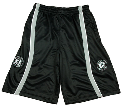 Zipway NBA Basketball Men's Brooklyn Nets Varsity Shorts, Black