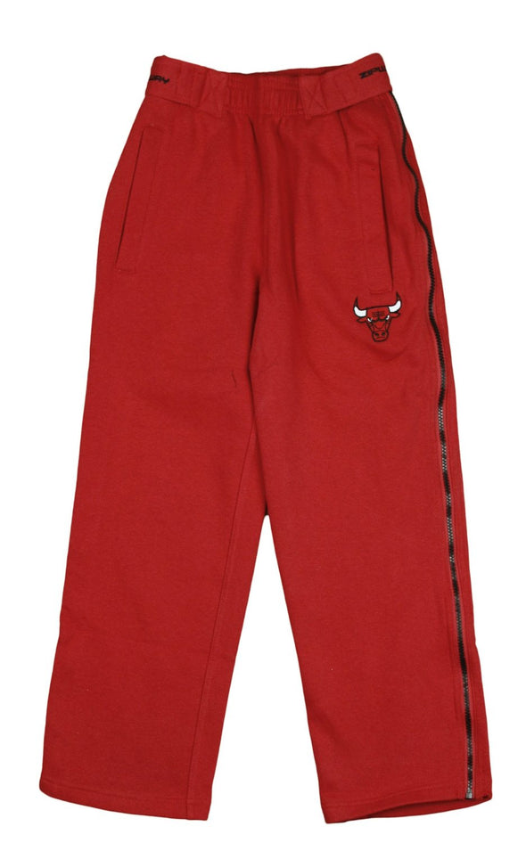 Zipway NBA Basketball Youth Chicago Bulls Tear-Away Fleece Pants, Red