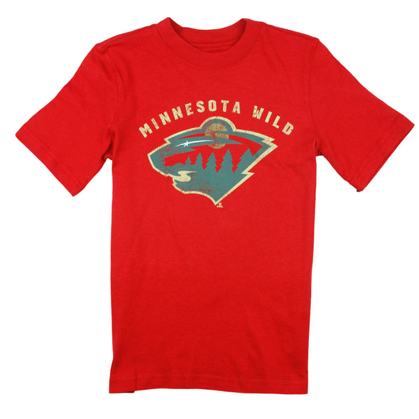 NHL Hockey Youth Boys Minnesota Wild Vintage Tee - Red