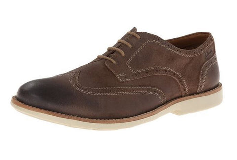 Clarks Men's Raspin Brogue Suede Oxford Shoes - Taupe Suede