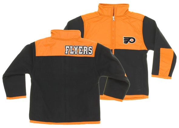NHL Youth/Kids Philadelphia Flyers Danali Fleece Jacket, Orange/Black