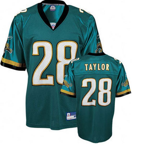 New Reebok NFL Football Mens Jacksonville Jaguars FRED TAYLOR #28  free shipping