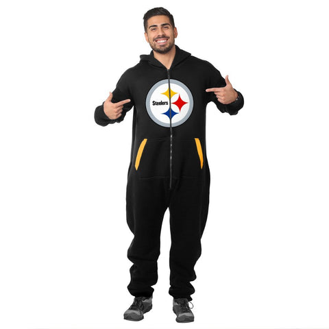 Forever Collectibles NFL Unisex Pittsburgh Steelers Jumpsuit, Black