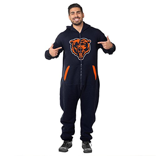 new styles dd14e fe2a5 Forever Collectibles NFL Unisex Chicago Bears Logo Jumpsuit, Navy