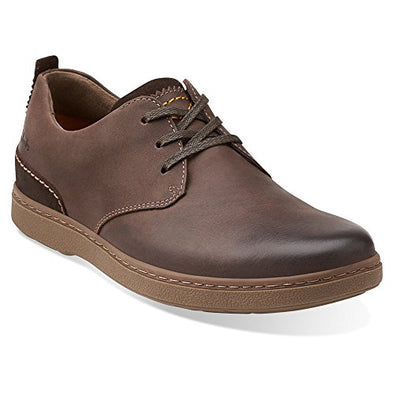 Clarks Men's Salton Fly Leather Oxfords Shoes - Brown