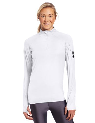 Asics Women's Team Tech Half Zip Long Sleeve Athletic Shirt Top, Several Colors