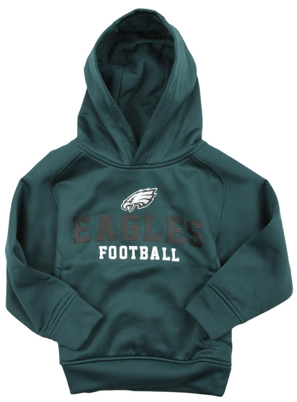 NFL Little Boys Kids Philadelphia Eagles Team Performance Pullover Hoodie, Teal