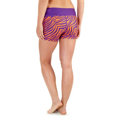 NCAA Women's Clemson Tigers Thematic Print Bootie Shorts, Purple