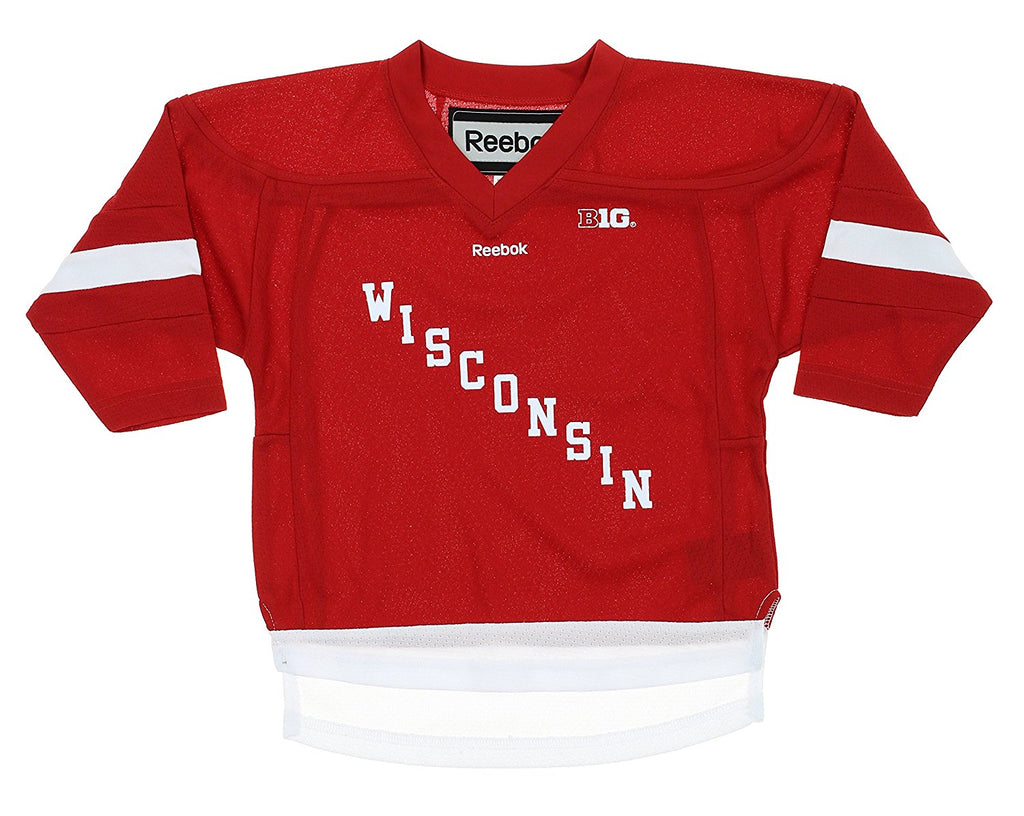 85b6d494dfa Reebok NCAA Toddler Wisconsin Badgers Replica Hockey Jersey – Fanletic