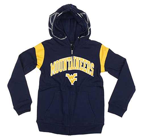 West Virginia Mountaineers NCAA College Youth Boys Full Zip Helmet Hoodie - Navy