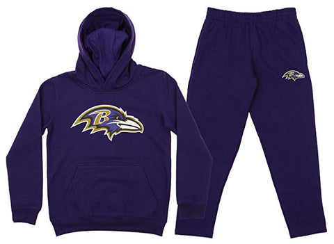 Outerstuff NFL Youth Baltimore Ravens Team Fleece Hoodie and Pant Set