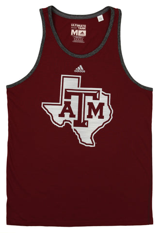 Adidas NCAA Men's Texas A&M Aggies Ultimate Tank, Maroon