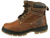 NFL Men's New York Jets Rounded Steel Toe Lace Up Leather Work Boots - Brown