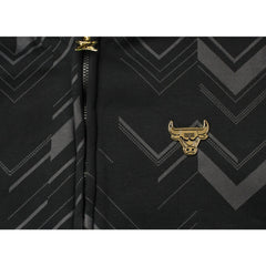 Zipway NBA Men's Chicago Bulls Signature Black and Gold Full Zip Hoodie