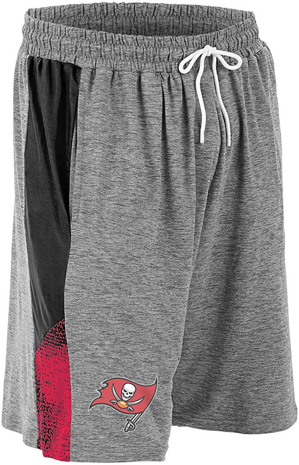 Zubaz NFL Football Mens Tampa Bay Buccaneers Gray Space Dye Shorts