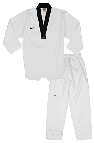 Nike Men's Tae kwon do Taekwondo Elite Uniform, White / Black