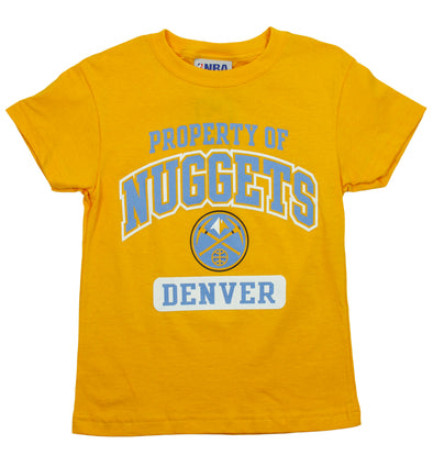 NBA Basketball Kids / Youth Denver Nuggets Property Of Nuggets Shirt - Yellow