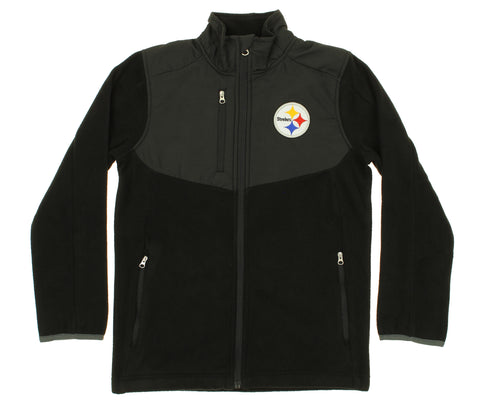 NFL Youth Pittsburgh Steelers Tactical Polar Fleece Full-Zip Jacket 3819a67ab