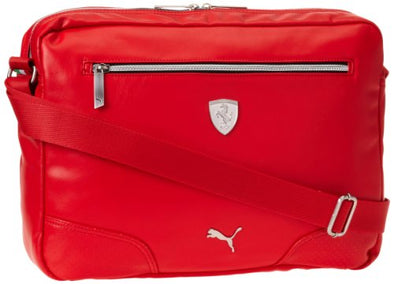 """PUMA Men's Ferrari Long Sleeve Reporter Messenger Bag, Red"""
