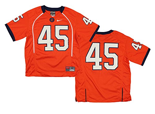 Nike NCAA Youth Boys Illinois Fighting Illini #45 Football Jersey, Orange