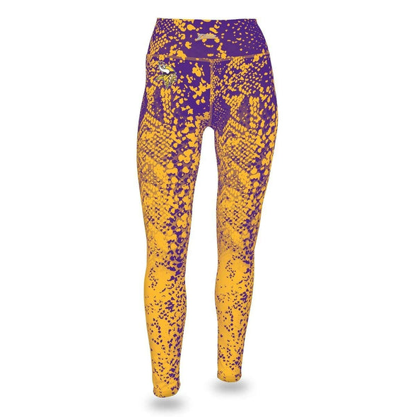 Zubaz NFL Women's Zubaz Minnesota Vikings Logo Leggings