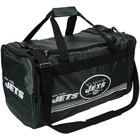 New York Jets Medium Striped Core Duffle Bag