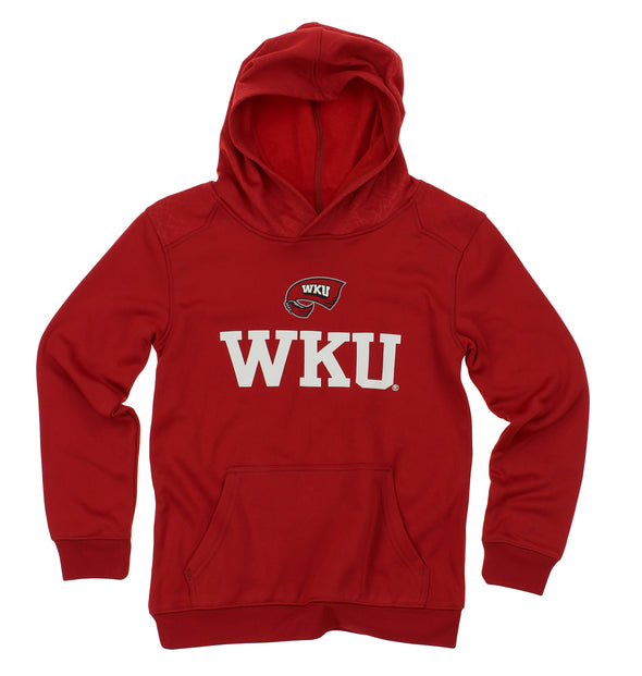 NCAA Youth Western Kentucky Hilltoppers Performance Hoodie, Red
