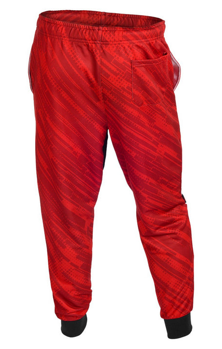 KLEW NHL Men's Detroit Red Wings Cuffed Jogger Pants, Red