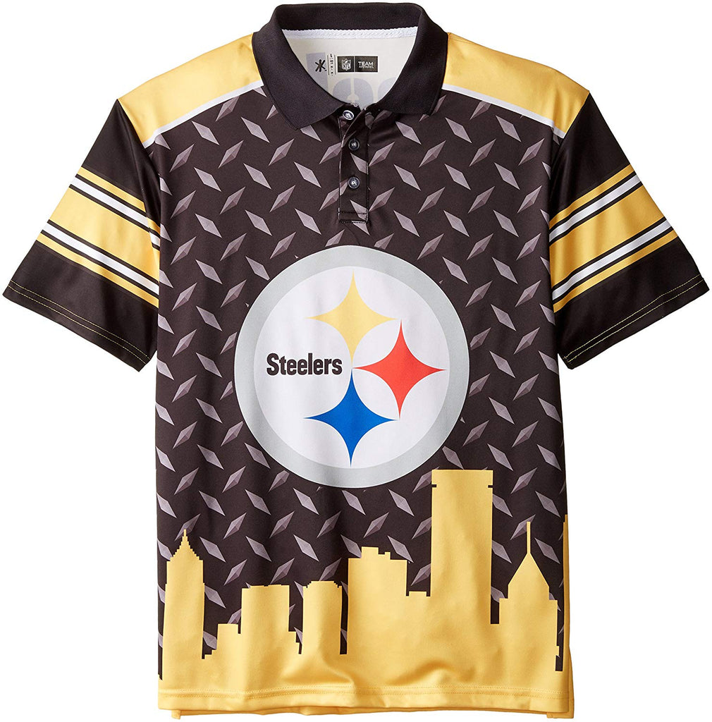 8f304656 Forever Collectibles NFL Men's Pittsburgh Steelers Thematic Polo Shirt –  Fanletic