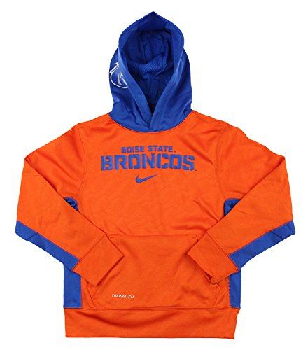 Nike NCAA Youth Boise State Broncos ThermaFIT Pullover Sweatshirt Hoodie, Orange