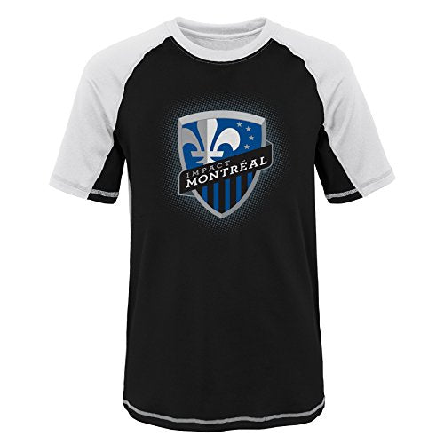 Outerstuff MLS Youth Boys (8-20) Montreal Impact Short Sleeve Rash Guard