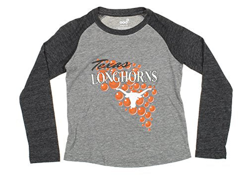 OuterStuff NCAA Texas Longhorns Youth Girls Mother Of Pearl Long Sleeve Tee, Grey