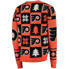 Forever Collectibles NHL Men's Philadelphia Flyers Patches Ugly Sweater