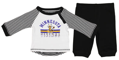 OuterStuff NFL Newborn Team Color Shirt and Pant Set, Minnesota Vikings