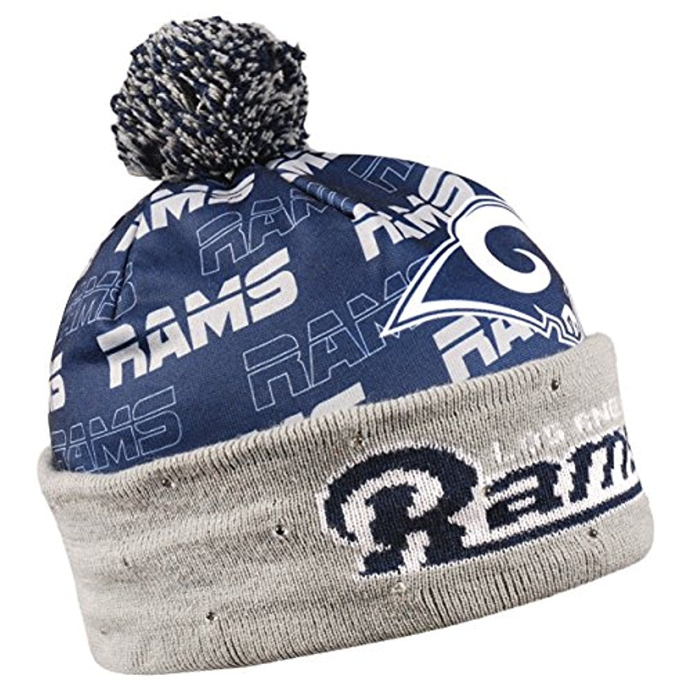 5fbfbb5f Forever Collectibles NFL Adult's Los Angeles Rams Light Up Printed Beanie