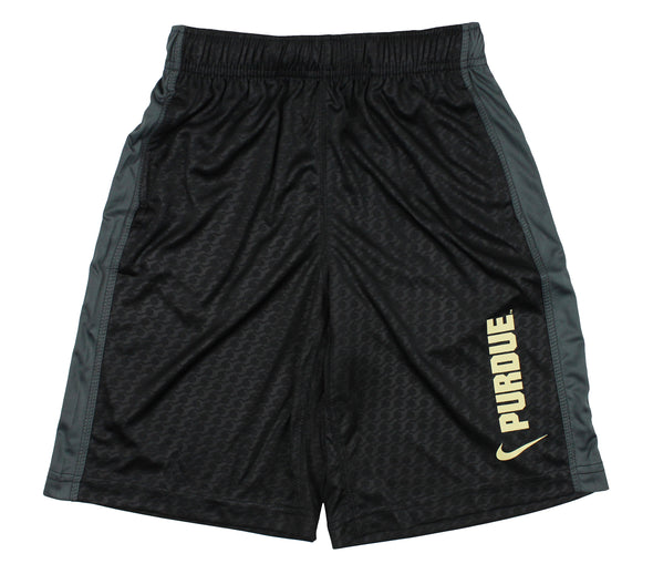 Nike NCAA Youth Purdue Boilermakers DriFIT Athletic Shorts, Black