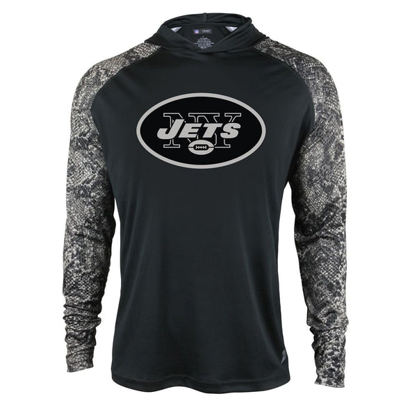 Zubaz Men's NFL New York Jets Tonal Lightweight Hoodie