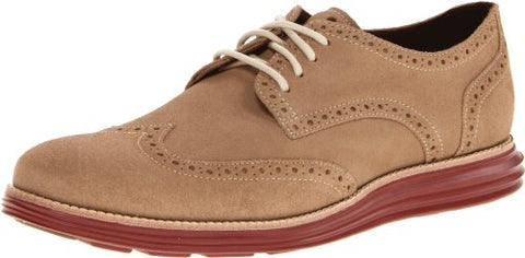 Cole Haan Men's LunarGrand Wingtip Oxford Fashion Shoes - Milkshake Suede