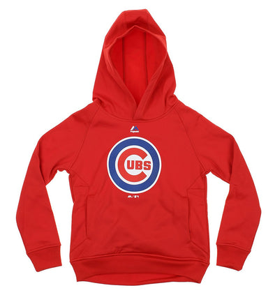 Outerstuff MLB Chicago Cubs Youth Team Logo Hoodie, Red