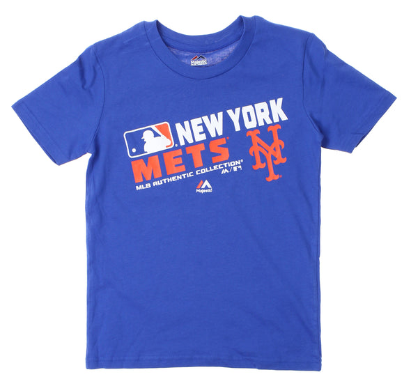 Outerstuff MLB Youth New York Mets AC Team Choice Tee Shirt, Blue