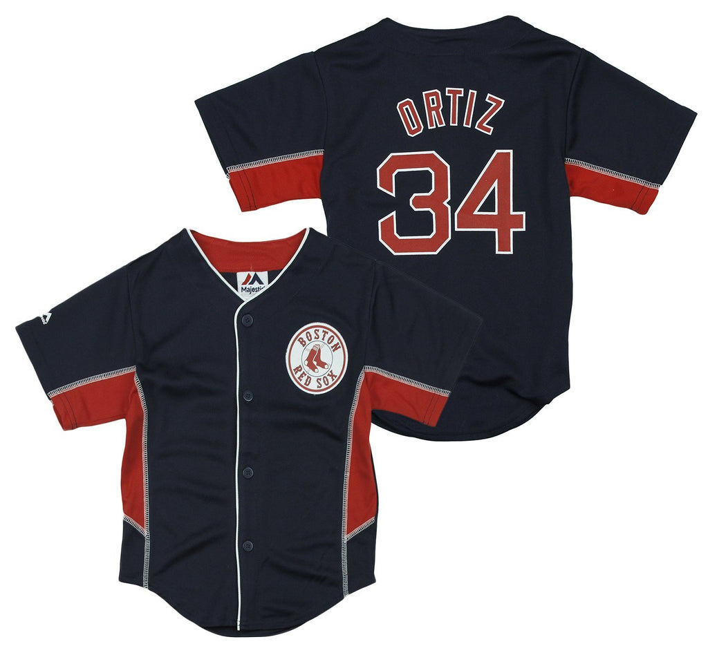 Majestic MLB Baseball Toddlers Boston Red Sox David Ortiz   34 Jersey - Navy 65e04742731