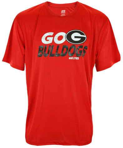 Georgia Bulldogs NCAA Men's Dri-Tek Short Sleeve Team Trials Shirt - Red