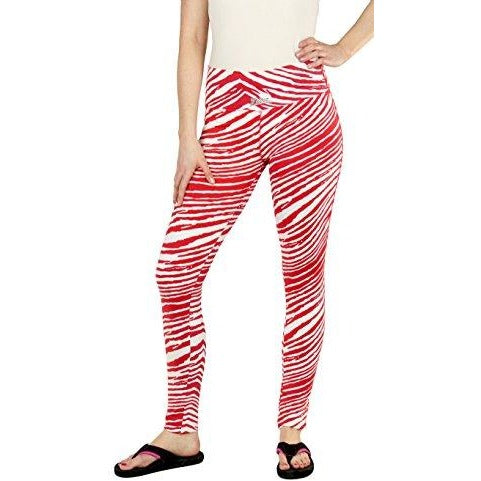Zubaz NCAA Women's Nebraska Cornhuskers Team Color Tiger Print Leggings Pants