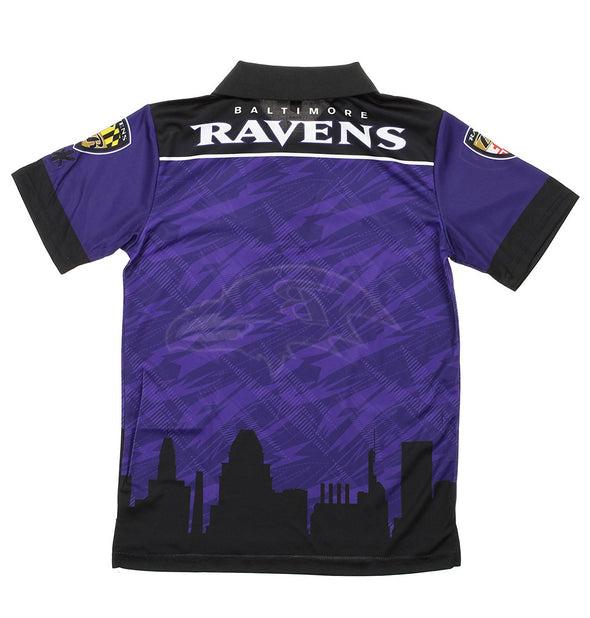 NFL Youth Baltimore Ravens City Poly Polo, Purple