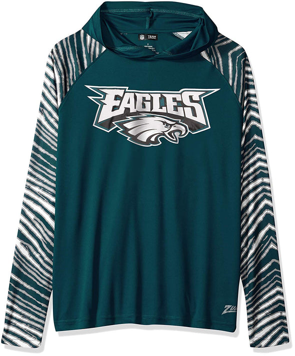 Zubaz NFL Men's Philadelphia Eagles Light Weight Zebra Hoodie