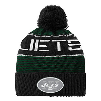 Outerstuff NFL Youth (8-18) New York Jets Magna Reflective Cuffed Beanie with Pom
