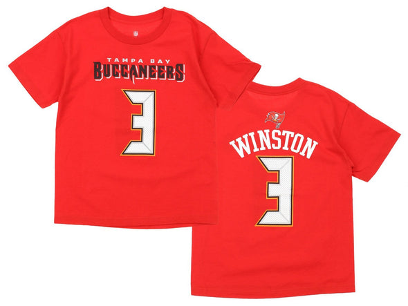 NFL Youth Tampa Bay Buccaneers Jameis Winston #3 Tee, Red