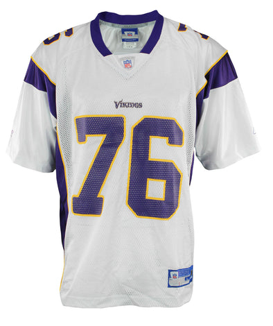 Minnesota Vikings Steve Hutchinson #76 NFL Mens Replica Jersey, White
