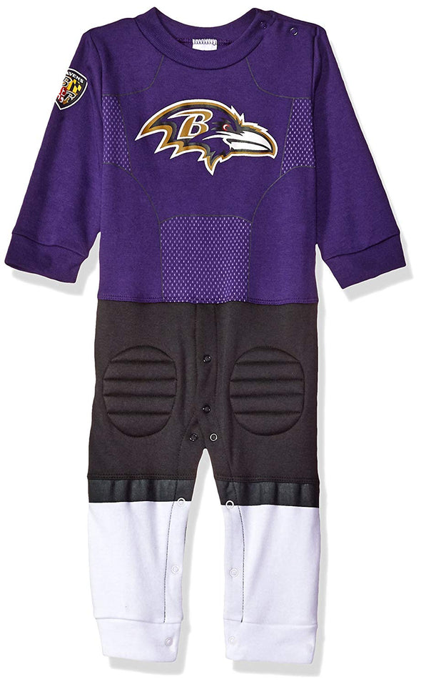 NFL Infants Baltimore Ravens Footless Footysuit, Purple