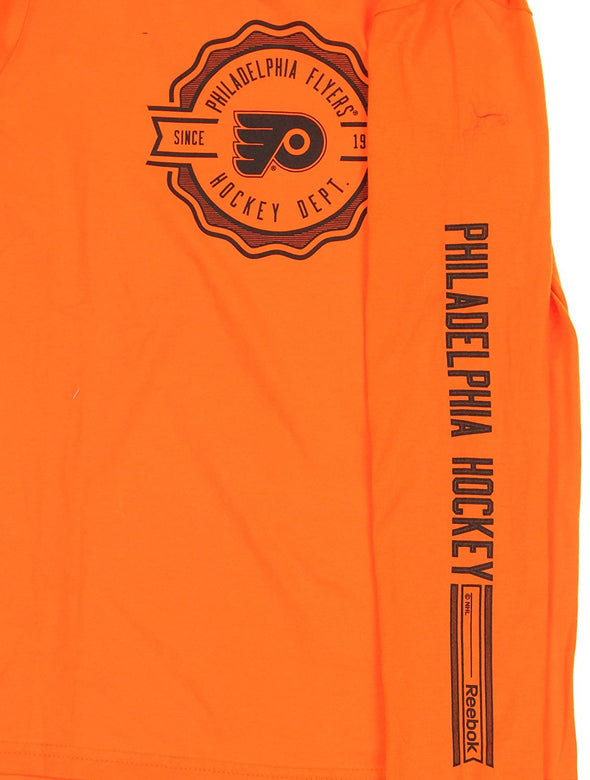 Reebok NHL Youth Philadelphia Flyers Long Sleeve Icon Tee